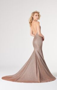 back of trumpet gown