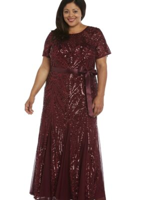 front of sparkly plus size dress