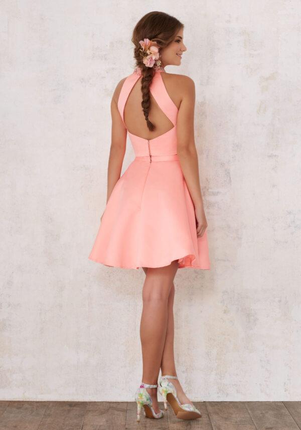 back of satin dress