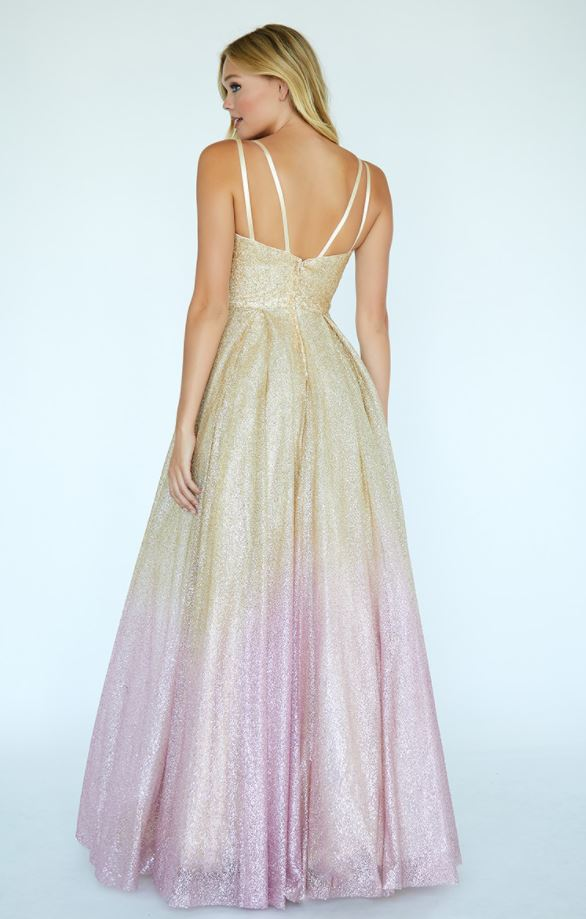back of ombre dress