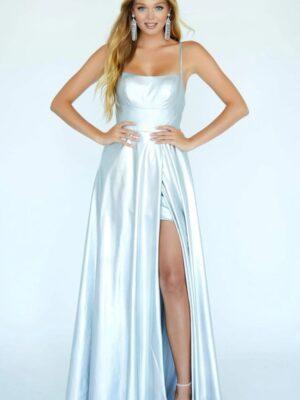 silver hologram dress