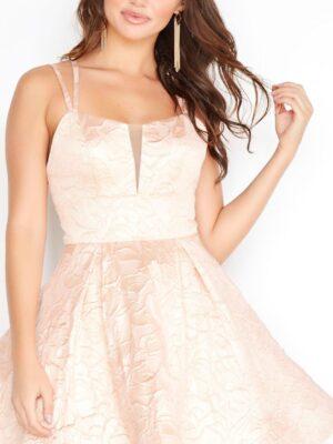 Light pink dress on model