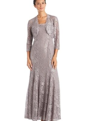 silver two-piece dress