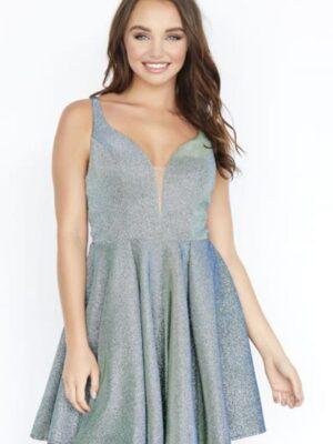 short metallic dress