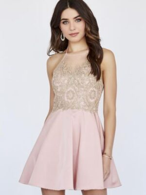 appliqued dress