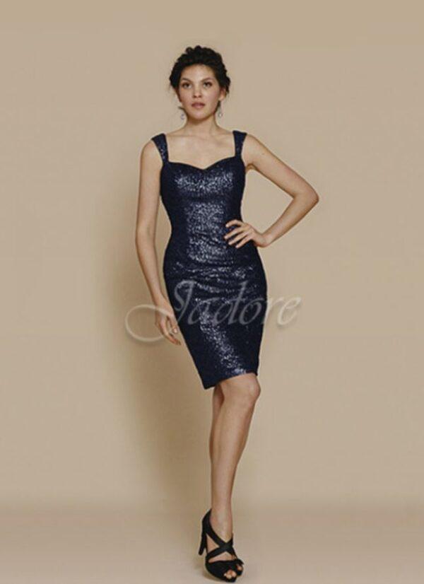 sequined dress on model