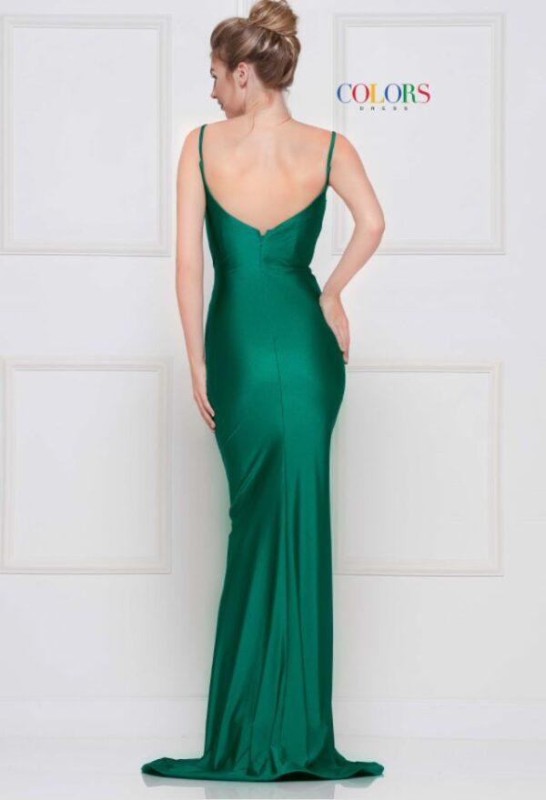 back of green dress