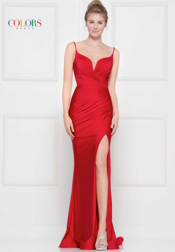 red colors dress