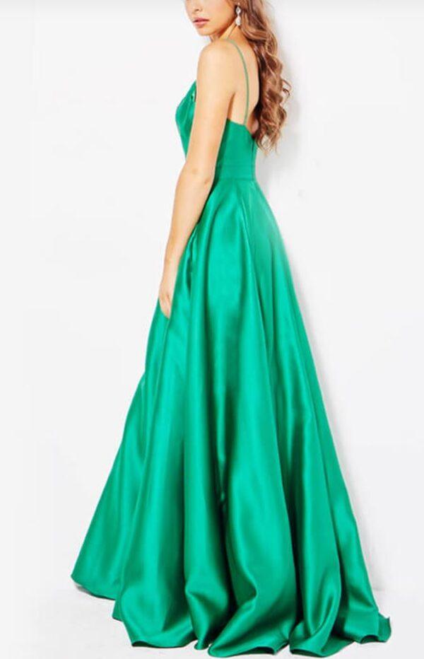 back of emerald dress