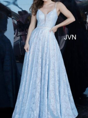 lt. blue ballgown
