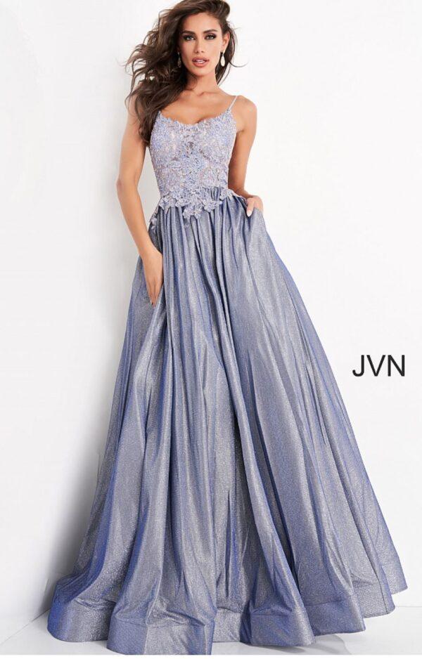 light blue dress on model